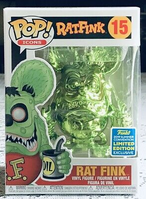Funko Pop! * Green Chrome Rat Fink #15 - 2019 Shared SDCC Exclusive