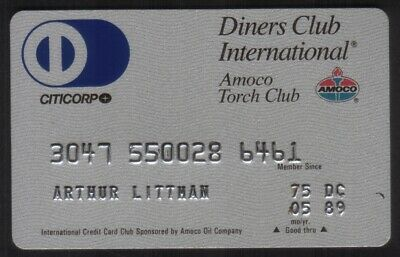 Diners Club International & Amoco Torch Club Credit Card Exp 05/89 (Citicorp).