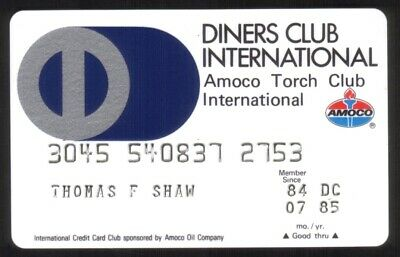 Diners Club & Amoco Torch Club International Credit Card Exp 07/85