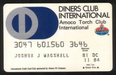 Diners Club & Amoco Torch Club International Credit Card Exp 11/84