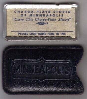 Charga-Plate Stores of Minneapolis Minnesota: Metal Charge Plate & Carrier