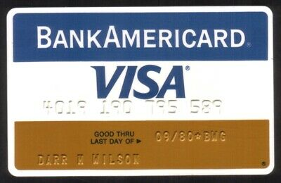 BankAmericard (Bank of America) VISA Credit Card Exp 09/80