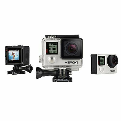 GoPro HERO 4 Silver with LCD Screen Open Box in Great Condition