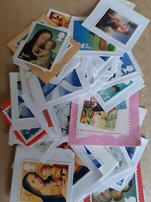 50 x GB Unfranked 2nd Class  On Paper  F/V  All non Security stamps £30.50