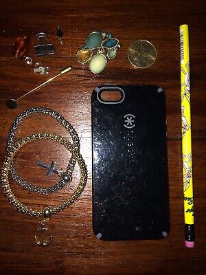 small JUNK DRAWER LOT OF GOODIES speck I-phone case GOLD COIN jewelry