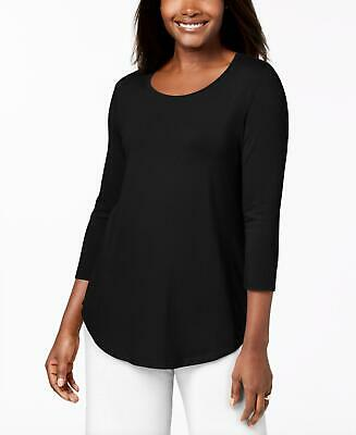 JM Collection Womens Scoop-Neck Top Shirt . 84987DB460 Black S