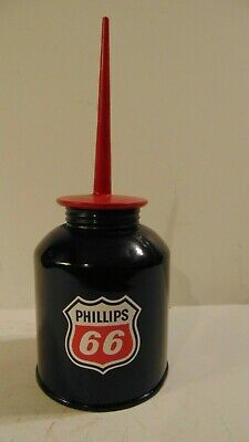 PHILLIPS 66 Vintage Pump OIL CAN Gasoline Station Gas Motor Spout Sign Decal