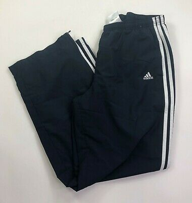 Adidas Mens Size Large Navy Blue with white stripes Athletic Running Pants