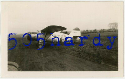 WWII US GI Photo - US Marked C-64 Norseman w/ Tail Numbers On Airfield - TOP!