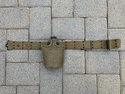 WWII US Army USMC 1944 US S.M.CO. Canteen With 1943 Belt