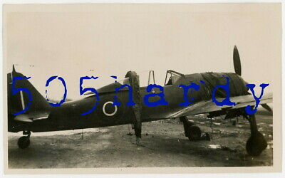 WWII US GI Photo - Captured German Focke-Wulf Fw 190 w/ British Markings - TOP!