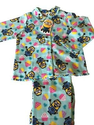 Girls Despicable Me Minions Flannel Pyjamas. Brand New!!!