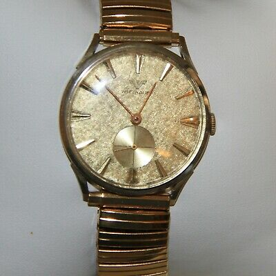 Vintage Wittnauer 14 K Solid Yellow Gold Automatic Men's Wrist Watch