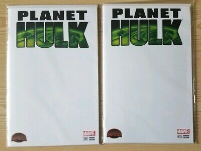 Planet Hulk #1 -Blank Sketch Variant Cover Lot of 2 Copies Marvel Comics Red She
