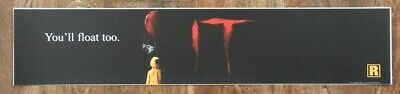 🎈  IT: Chapter 1 - Movie Theater Poster / Mylar LARGE Vers - 5x25 - Pennywise