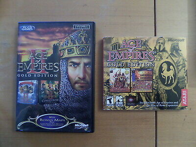 Age Of Empires GOLD & Age Of Empires II GOLD Both Games **Windows 9598**
