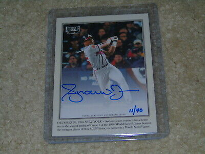 2019 Topps Archives Snapshots Andruw Jones Captured In The Moment Auto 11/40