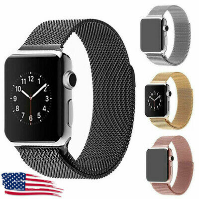 Magnetic Milanese Band Metal Strap For iWatch Apple Watch Series 5 40mm 44mm US