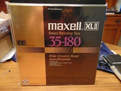 Maxell XL II EE 35-180 Sealed NOS Reel to Reel Tape