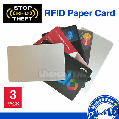 3x Coated Paper RFID Blocking Secure Credit Card ID Protector Anti Scan Safety