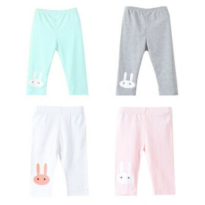 Children Kids Toddler Girls Leggings Pants Rabbit Stretch Capri Tight Trousers