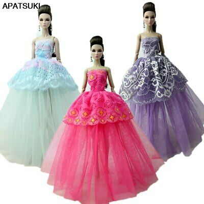 """3pcs/lot Fashion Doll Clothes For 11.5"""" Doll Gown Evening Dresses Outfits 1/6"""
