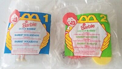 1995 McDonald's Happy Meal Toys Dutch Kenyan Barbie lot New sealed in Package