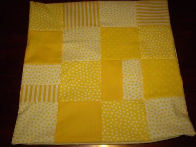 Patchwork Cushion Cover - Yellow - E