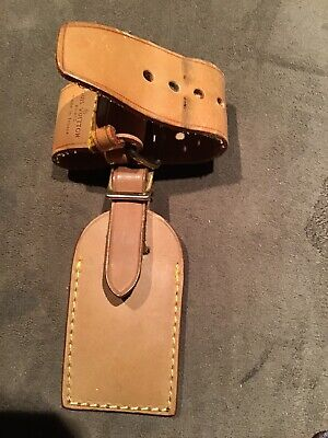 Louis Vuitton Luggage Tag ID Tag and Handle Keeper Strap