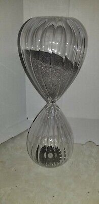 60 Minute Timing Hourglass Height 11 Inch Glass Sand Timer Sandglass