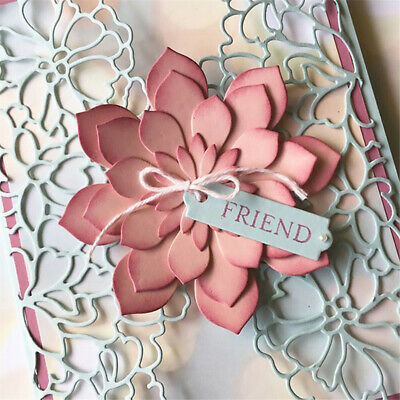 Stencil Metal Cutting Dies Blossom Flower 3D Stamp Crafts DIY Template Embossing