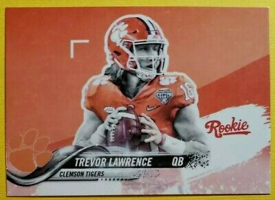 🔥🔥🔥Trevor Lawrence🔥🔥🔥2018-2019 Clemson Tigers Orange * Rookie Card * ACEO