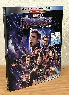 AVENGERS: END GAME (Blu-Ray + Digital, 2019) MARVEL 2-DISC SET with SLIPCOVER!