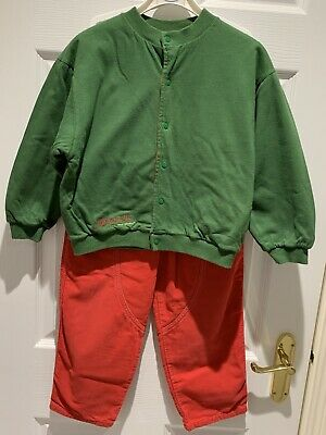 Girls Trouser And Reversable Jacket Suit, Designer, Vintage, Age 6 Cosy Lined