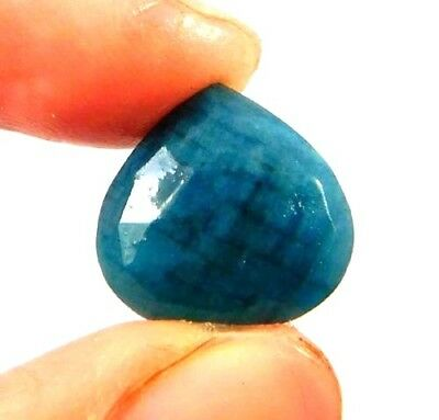 Dyed Faceted Blue Sapphire Gemstone 6 ct 12x12mm W441