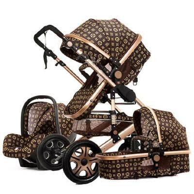 2019 High landscape baby stroller can sit reclining two-way four-wheel shock abs