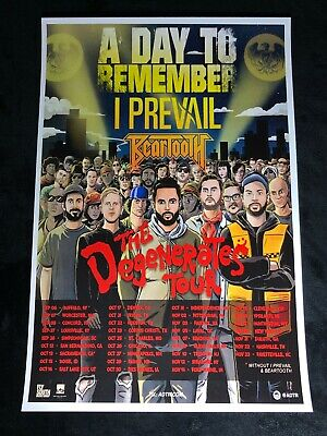A DAY TO REMEMBER 12x18 THE DEGENERATES TOUR POSTER BAND I PREVAIL BEARTOOTH