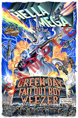 GREEN DAY 12x18 THE HELLA MEGA TOUR POSTER BAND WEEZER FALL OUT BOY BILLIE JOE 1