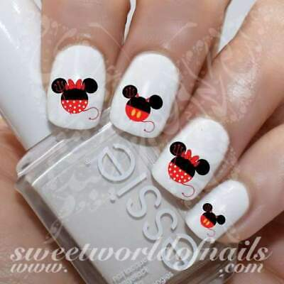 Disney Halloween Nail Art Devil Mickey Minnie Mouse Water Decals