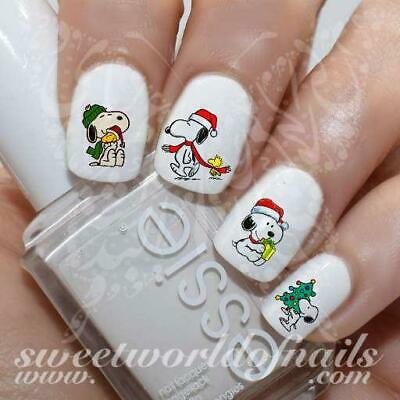 Christmas Snoopy Nail Art Water Decals
