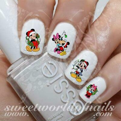 Christmas Nail Art Mickey Minnie Mouse Nail Water Decals Transfers