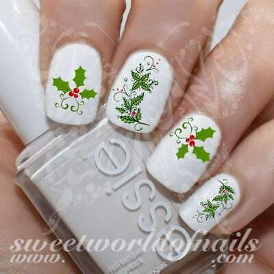 Christmas Nails Holly Berry Nail Water Decals