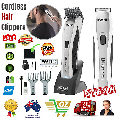 Wahl Professional Cordless Hair Clippers Trimmer Rechargeable Li-Ion Mens Shaver