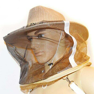 Beekeeper Beekeeping Cowboy Hat Mosquito Bee Insect Net Head Face Protect. B9C3