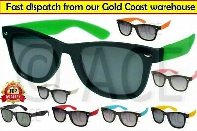 Adult SUNGLASSES Black Frame Coloured Arms Sunnies
