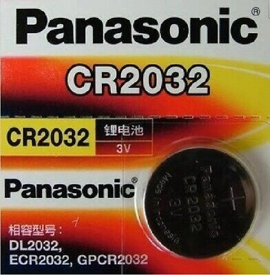 CR 2032 Genuine Panasonic 3v Lithium Coin Button Cell Battery 65mAh EXP 2023 OZ