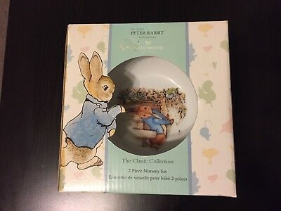 Wedgwood Peter Rabbit Bowl and Mug Gift Set - New.