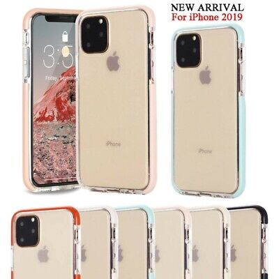 For iPhone 11 Pro MAX XR XS 7 8 Plus Clear Shockproof Silicone Bumper Cover Case