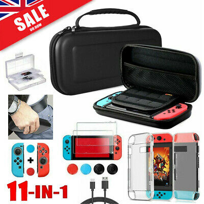Switch Case Bag+Shell Cover+Charging Cable+Protector Accessories fit Nintendo UK