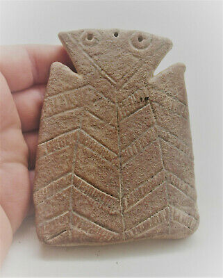 Very Rare Ancient Cypriot Terracotta 'Plank' Type Idol Bronze Age